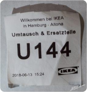 Kullarna machte traurig - Wartemarke IKEA