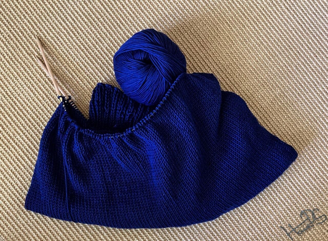 Strahlend blaue Pima-Baumwolle